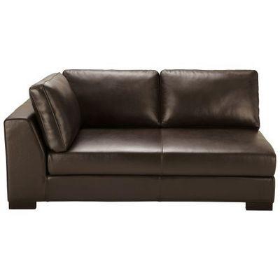Maisons du monde - Canapé d'angle-Maisons du monde-Canapé manchot cuir gauche convertible marron Tere