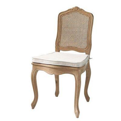 Maisons du monde - Chaise-Maisons du monde-Chaise cannée  chêne vieilli Gustavia