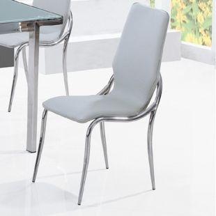 CLEAR SEAT - Chaise-CLEAR SEAT-Chaises Grises Kiss lot de 4