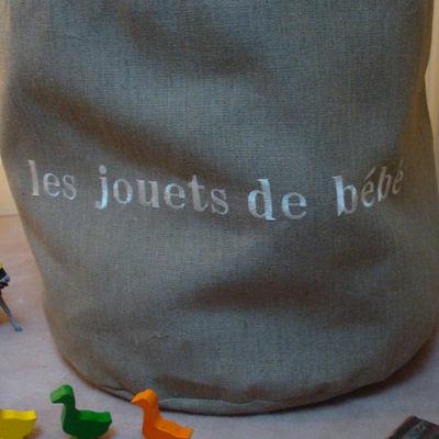 L'atelier D'anne - Sac de rangement-L'atelier D'anne-Grand sac à jouets pour enfant