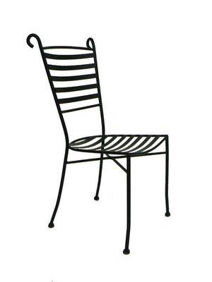 Medicis - Chaise de jardin-Medicis-Chaise bélier en fer forgé avec coussin (lot de 4)