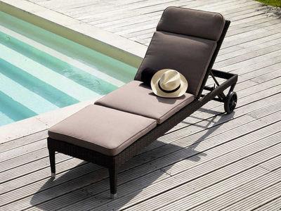 PROLOISIRS - Bain de soleil-PROLOISIRS-Matelas déhoussable taupe pour bain de soleil