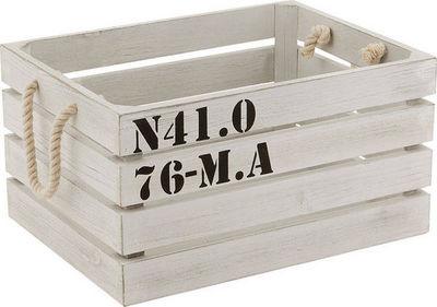 BARCLER - Boite de rangement-BARCLER-Caisse de rangement marina en bois blanc 38x28,5x1