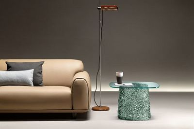 Fiam - Table basse forme originale-Fiam-macramé