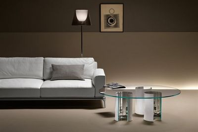 Fiam - Table basse forme originale-Fiam-luxor tavolino