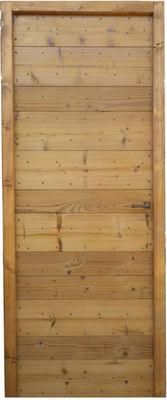 Portes Anciennes - Porte de communication pleine-Portes Anciennes-Modèle à lames croisées en pin thermotraité