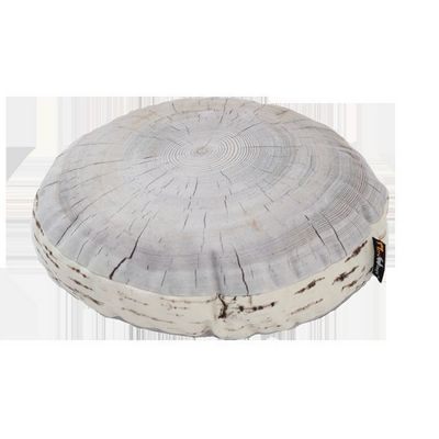 MEROWINGS - Coussin rond-MEROWINGS-Birch Annual Ring Cushion