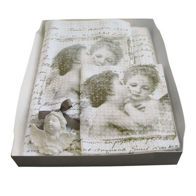 Mathilde M - Serviette de toilette-Mathilde M-Coffret Linge de toilette Anges amoureux