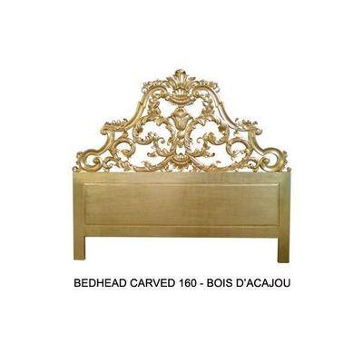DECO PRIVE - Tête de lit-DECO PRIVE-Tete de lit 160 cm en bois dore modele Carved