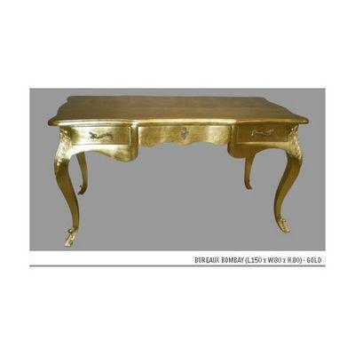 DECO PRIVE - Bureau-DECO PRIVE-Bureau en bois dore modele Bombay