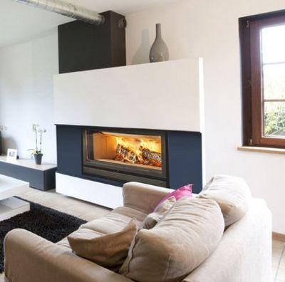 Bodart & Gonay - Cheminée à foyer fermé-Bodart & Gonay-Infire 1000 green
