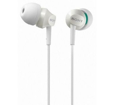SONY - Casque audio-SONY-Ecouteurs intra-auriculaires MDR-EX50LP - blanc
