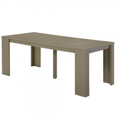 WHITE LABEL - Table de repas rectangulaire-WHITE LABEL-Table console extensible 3 rallonges Lisboa
