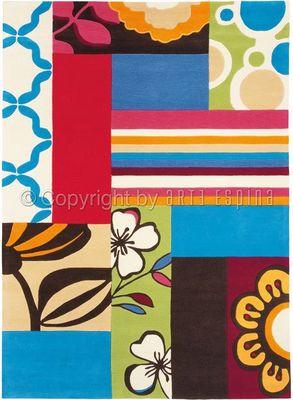 Arte Espina - Tapis contemporain-Arte Espina-Tapis Design Blue Match