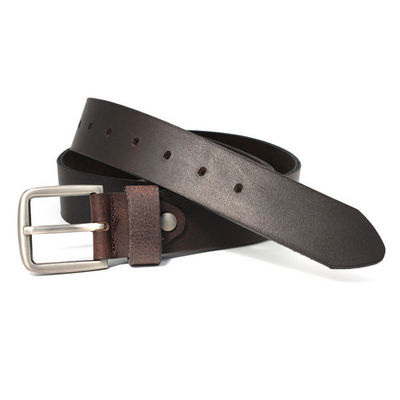 WHITE LABEL - Ceinture-WHITE LABEL-Ceinturon cuir de buffle