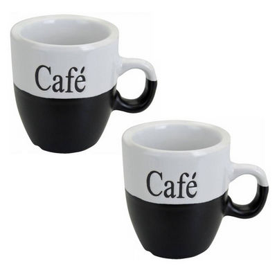 WHITE LABEL - Mug-WHITE LABEL-Lot de 2 mugs à café