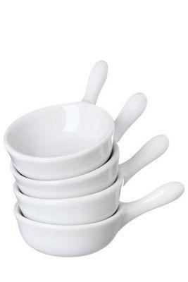 WHITE LABEL - Po�lon-WHITE LABEL-Ensemble de 4 minis po�lons en porcelaine