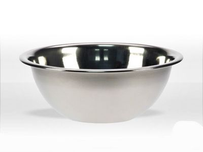WHITE LABEL - Bol mélangeur-WHITE LABEL-Coupelle bol à rebord en inox