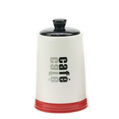 WHITE LABEL - Pot à épices-WHITE LABEL-Pot de cuisine Collection Words en grès décoration