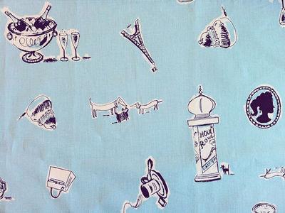 FLEUR DE SOLEIL - Tissu d'ameublement-FLEUR DE SOLEIL-Tissu Paris Bleu 160x160