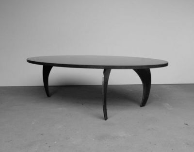 MALHERBE EDITION - Table basse forme originale-MALHERBE EDITION-Table Basse Béton l'Ellipse E²