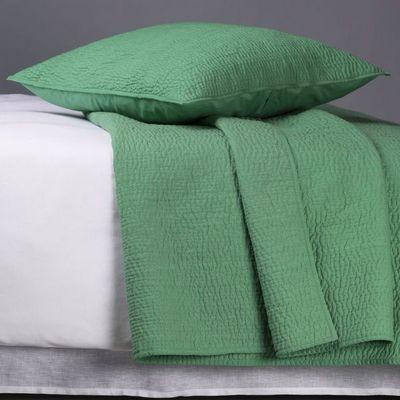 BLANC D'IVOIRE - Housse de coussin-BLANC D'IVOIRE-Taie CESAR vert