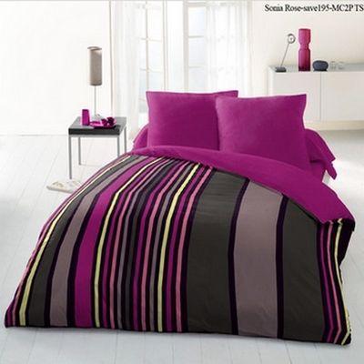 FASHION HOME - Housse de couette-FASHION HOME-Parure de draps 220 X 240 cm SONIA rose