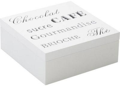 Aubry-Gaspard - Boite de rangement-Aubry-Gaspard-Boite rangement 4 compartiments en Bois blanc 18x1
