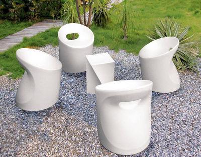 WILSA GARDEN - Salon de jardin-WILSA GARDEN-Salon de jardin design en polyéthylène blanc