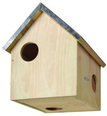 BEST FOR BIRDS - Mangeoire à oiseaux-BEST FOR BIRDS-Abri en Bois et Zinc pour Ecureuil