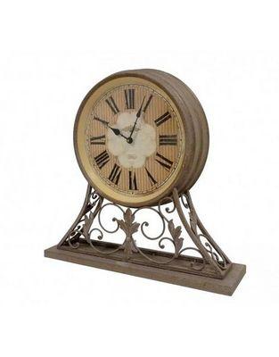 L'HERITIER DU TEMPS - Horloge � poser-L'HERITIER DU TEMPS-Horloge en M�tal Effet Rouille
