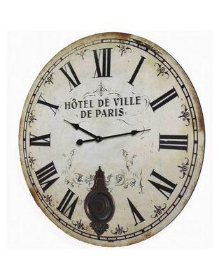 L'HERITIER DU TEMPS - Horloge murale-L'HERITIER DU TEMPS-Horloge Bois PARIS � 58cm
