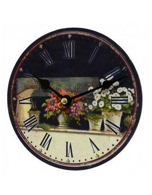 L'HERITIER DU TEMPS - Horloge murale-L'HERITIER DU TEMPS-Pendule Miniature Arche aux Fleurs 16,5cm