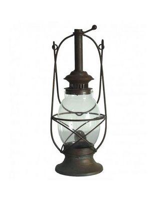 L'HERITIER DU TEMPS - Lanterne d'ext�rieur-L'HERITIER DU TEMPS-Lanterne ancienne fer sable 50cm