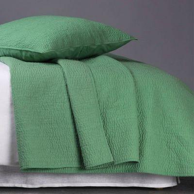 BLANC D'IVOIRE - Jeté de lit-BLANC D'IVOIRE-CESAR Vert