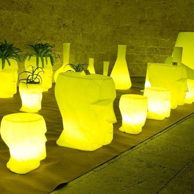 VONDOM - Tabouret de bar de jardin-VONDOM-Tabouret design VONDOM Adan, LED RGB