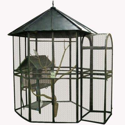 Demeure et Jardin - Cage � oiseaux-Demeure et Jardin-Grande Voli�re en Fer Forg�