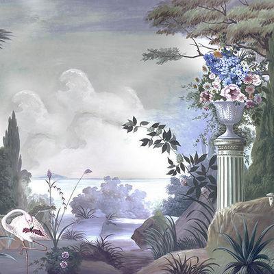 Ananbô - Papier peint panoramique-Ananbô-Le jardin de Portobello couleur