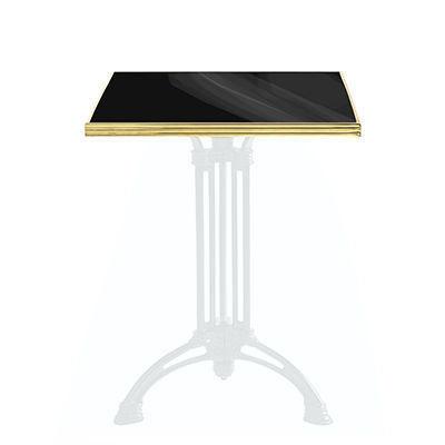 Ardamez - Plateau de table bistrot-Ardamez-Plateau de table de bistrot émaillée / noir