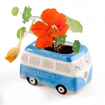 Radis Et Capucine - Potager d'intérieur-Radis Et Capucine-Le mini bus Flower Power et ses capucines