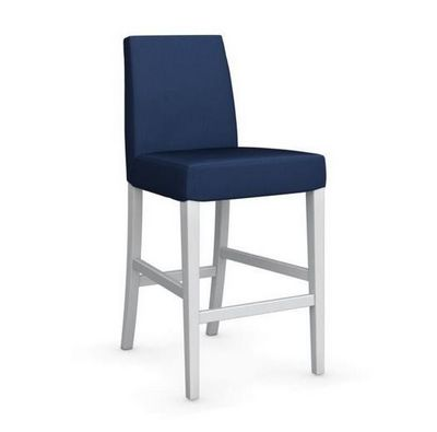 Calligaris - Chaise haute de bar-Calligaris-Chaise de bar LATINA de CALLIGARIS bleue et hêtre