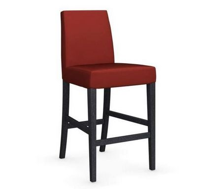 Calligaris - Chaise haute de bar-Calligaris-Chaise de bar LATINA de CALLIGARIS rouge et hêtre