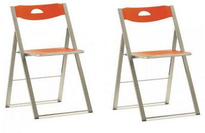 Domitalia - Chaise pliante-Domitalia-Lot de 2 chaises pliantes ICON orange.