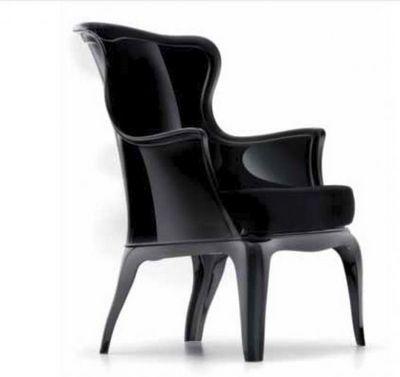 WHITE LABEL - Chaise-WHITE LABEL-DAISY chaise design pour salons et jardins en plex