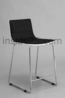 WHITE LABEL - Chaise-WHITE LABEL-Tabouret Chaise de Bar Design HIGH SEAT Noire