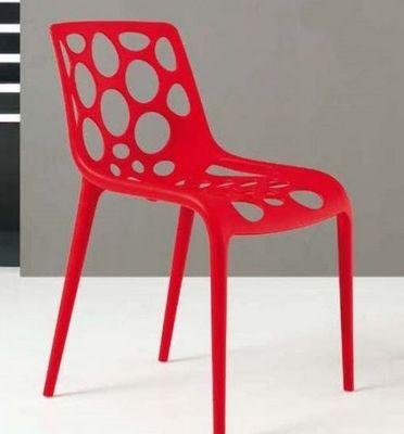 Calligaris - Chaise de jardin-Calligaris-Chaise empilable HERO de CALLIGARIS rouge
