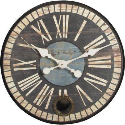 Aubry-Gaspard - Horloge murale-Aubry-Gaspard-Horloge rétro avec balancier