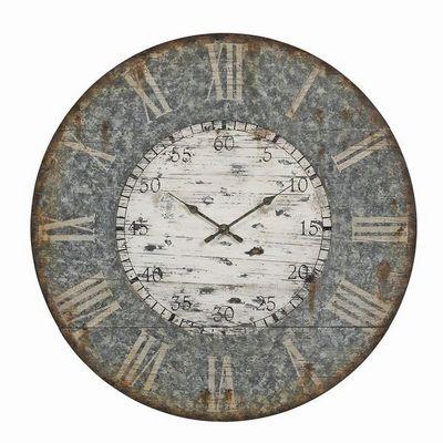 Interior's - Horloge murale-Interior's-Horloge bois fa�on zinc pliable GM