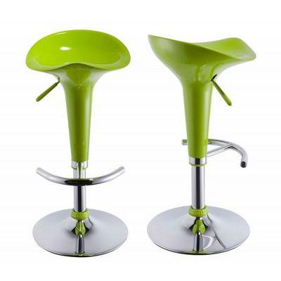 WHITE LABEL - Tabouret de bar-WHITE LABEL-Lot de 2 Tabourets de bar vert