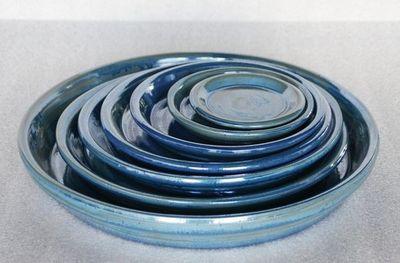 Les Poteries Clair de Terre - Dessous de pot de jardin-Les Poteries Clair de Terre-Aigue Marine